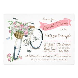 Bicycle Bridal Shower Invitation