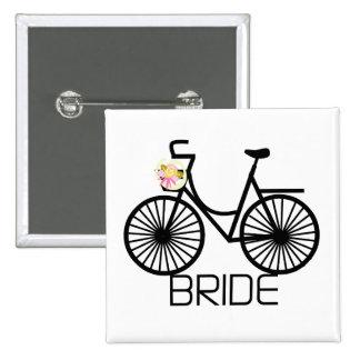 Bicycle Bride Tshirts and Gifts Pin
