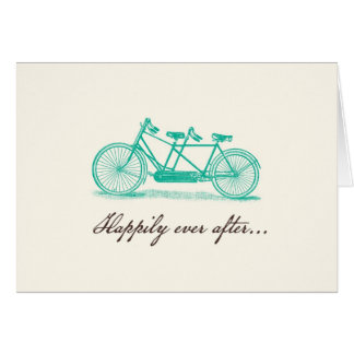 Bicycle Built For Two Wedding Card
