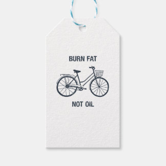 Bicycle Burn fat not oil Gift Tags