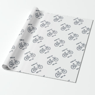 Bicycle Burn fat not oil Wrapping Paper