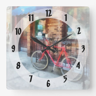 Bicycle By Post Office Square Wall Clock
