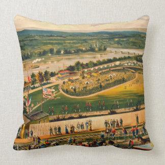 Bicycle Camp 1883 Throw Pillow