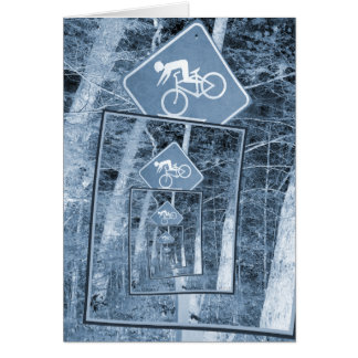 Bicycle Caution Traffic Sign Card