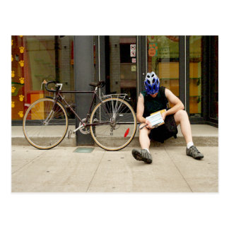 Bicycle Courier Messenger Cycle Bicycling Cycling Postcard
