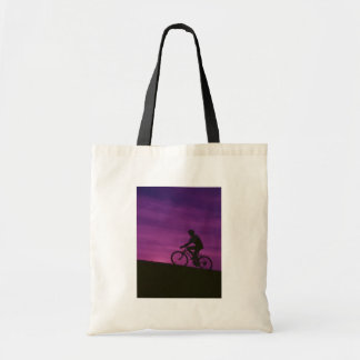 Bicycle Cycle Bicycling Cycling Purple Sunset Bag