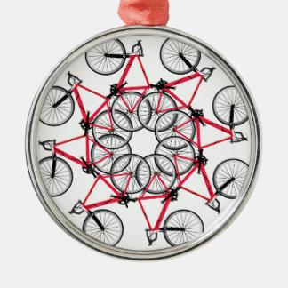 Bicycle cycle metal ornament