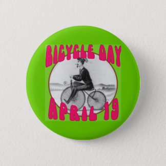 BICYCLE DAY April 19 2 Inch Round Button
