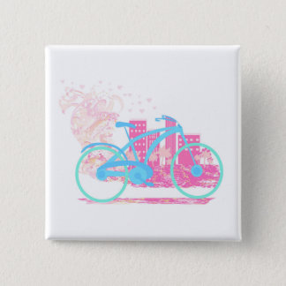 Bicycle Design   Badge 2 Inch Square Button