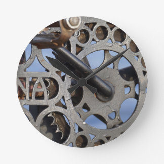 Bicycle detail round clock