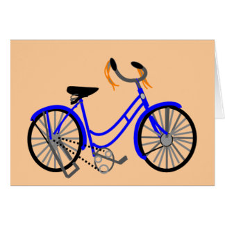 Bicycle Drawing, 1950's Style Greeting Card