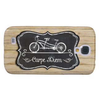 Bicycle for Two, Carpe Diem Mod Chalkboard Rustic