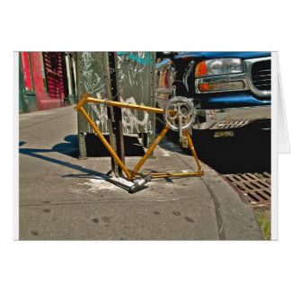 Bicycle Frame-SOHO NYC Greeting Card