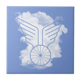 Bicycle freedom ceramic tile