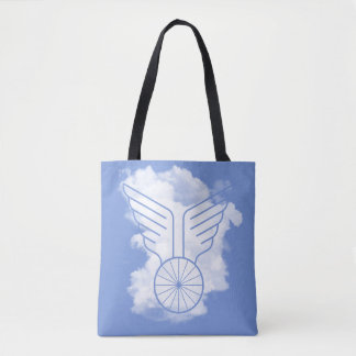 Bicycle freedom tote bag