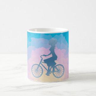 Bicycle Girl Triple Monogram Coffee Mug