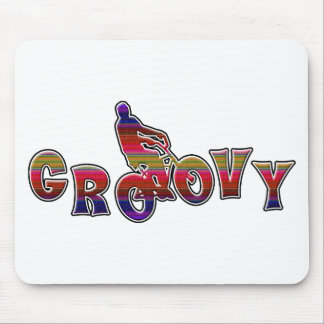 Bicycle Groovy Mouse Pad
