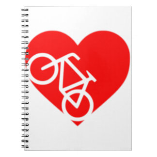 Bicycle Heart Notebook