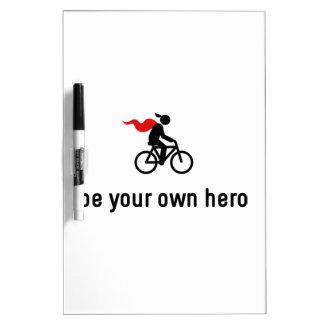 Bicycle Hero Dry-Erase Whiteboard