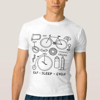 Bicycle Icons Vintage Bike Print Cycling T-shirt