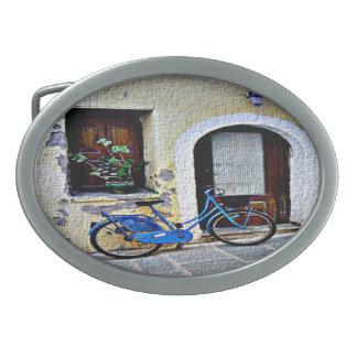Bicycle In Crete Belt Buckle