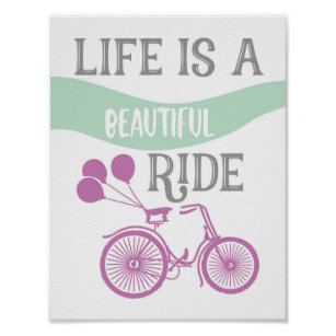 Quotes Bicycle Art Wall Décor Zazzleca