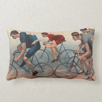 Bicycle Lithos Ad 1896 Lumbar Pillow