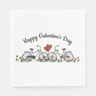 Bicycle Lovers Valentine Napkin