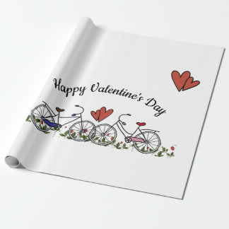 Bicycle Lovers Valentine Wrapping Paper