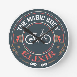 Bicycle, Magic Body Elixir Wall Clocks