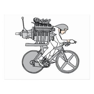Bicycle Motoring Postcard