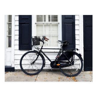 Bicycle on Meeting St, Charleston, South Carolina Postcard