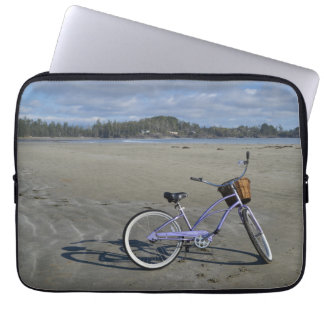 Bicycle on the Beach Laptop Sleeve