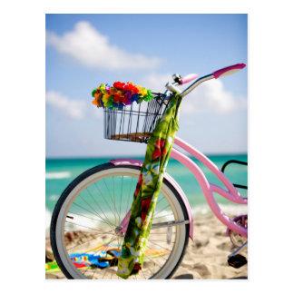 Bicycle On The Beach | Miami, Florida Postcard