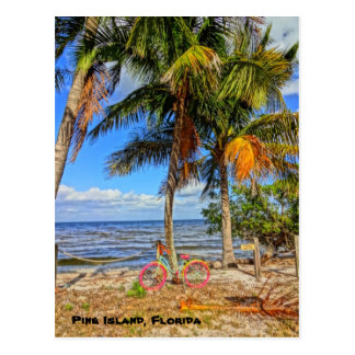 Bicycle on the beach - Pine Island Florida Postcard