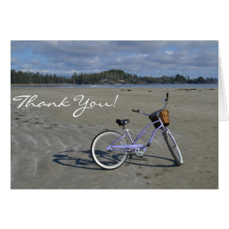 Bicycle on the Beach Thank You Card