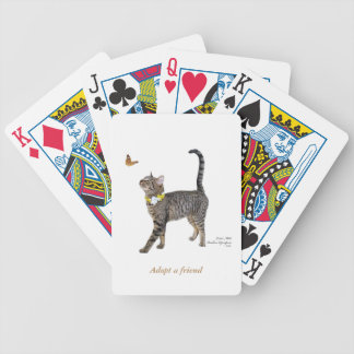 Bicycle Playing Cards Featuring Tabatha, the Tabby
