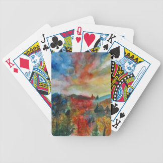 Bicycle® Poker Playing Cards Autumn Landscape