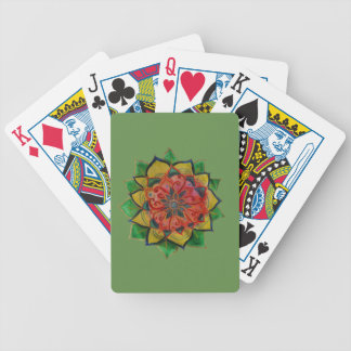 Bicycle® Poker Playing Cards Green Mandala