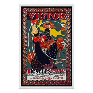 Bicycle Poster:  Victor Bicycles - William Bradley Poster