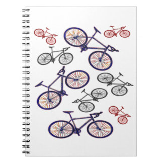 Bicycle Print Design Spiral Notebook