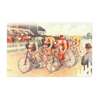 Bicycle Race 1895 Canvas Print