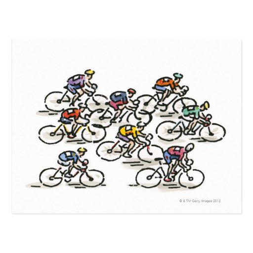 Bicycle Race Post Card