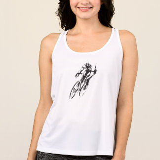 Bicycle Racer Leaning Into a Turn Tank Top
