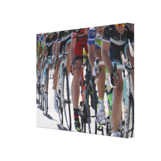 Bicycle Racers Canvas Print