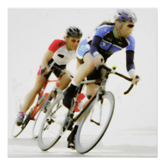 Bicycle Racers -Color -4 Poster