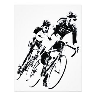 Bicycle Racers into the Turn Letterhead