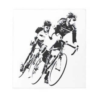 Bicycle Racers into the Turn Notepad