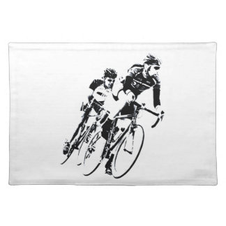 Bicycle Racers into the Turn Placemat