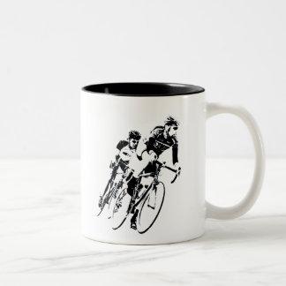 Bicycle Racers -Shadow -2 Two-Tone Coffee Mug